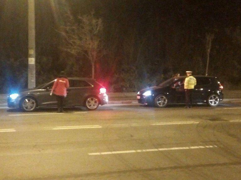 Ce au făcut voluntarii Worldstreet după ce împreună cu poliţiştii au depistat un şofer beat, vineri seară FOTO